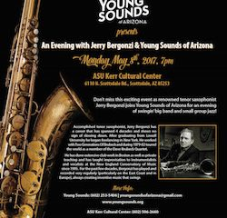 Young Sounds Announces FREE Concert & Master Class with Renowned Saxophonist Jerry Bergonzi